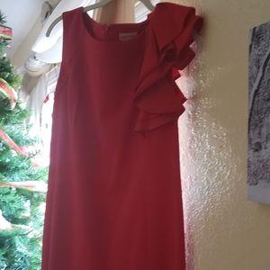 Red evening wear